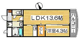 アーバンツァ[5階]の間取り