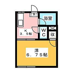 シングルライフYK[1階]の間取り