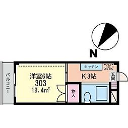KSビル[303号室]の間取り