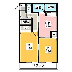 静岡県静岡市葵区田町3の賃貸アパートの間取り