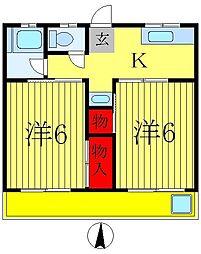 後田マンション[2階]の間取り