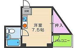 大阪府大阪市阿倍野区松虫通1丁目の賃貸マンションの間取り