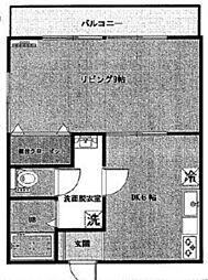 コーポ八坂[2階]の間取り