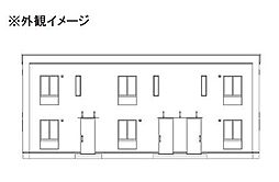 広島県府中市高木町の賃貸アパートの外観