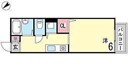 アパートメント林[110号室]の間取り