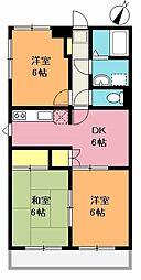 新井マンション[2階]の間取り