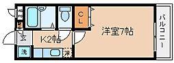 兵庫県神戸市長田区長田天神町3丁目の賃貸アパートの間取り