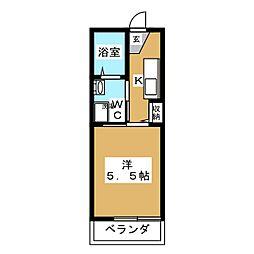 七条AYメゾン[5階]の間取り