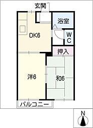タウン野南A・B[2階]の間取り