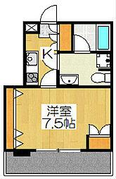 I-arts七条大宮(アイアーツ七条大宮)[501号室]の間取り