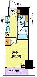 JR山手線 巣鴨駅 徒歩2分の賃貸マンション 5階1Kの間取り