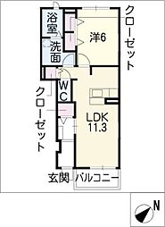 メゾン・ファミーユ[1階]の間取り