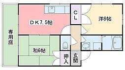 福岡県福岡市西区今宿青木の賃貸アパートの間取り