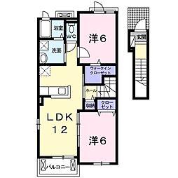 藤阪元町新築ペット共生[2階]の間取り
