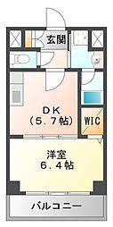 ベルデュール楓[1階]の間取り