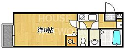 フラッティ西本願寺[401号室号室]の間取り