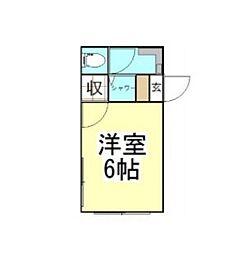 吉野荘[101号室]の間取り