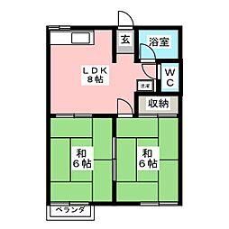 シティコーポセブン[2階]の間取り