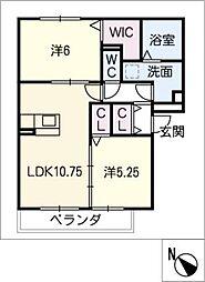 仮)D-ROOM半田市大高町 A棟[2階]の間取り