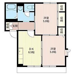メルヴィーユ大住台B[1階]の間取り