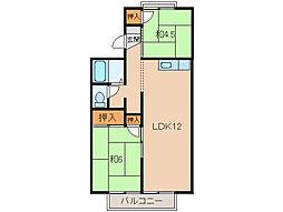 セジュールタンタン[2階]の間取り