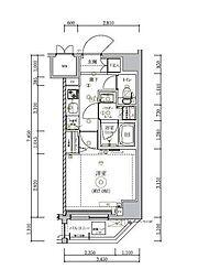 JR総武線 錦糸町駅 徒歩15分の賃貸マンション 4階1Kの間取り