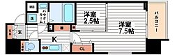 ファーストフィオーレ心斎橋イースト2[13階]の間取り