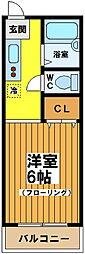 東京都杉並区永福1丁目の賃貸アパートの間取り