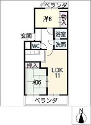 愛知県名古屋市昭和区前山町2丁目の賃貸マンションの間取り