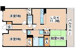 プレステージ明石藤江駅前3[10階]の間取り