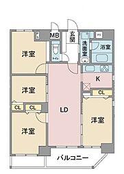 フォンターナ名昭[10階]の間取り