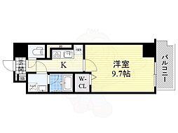 N residence SUMIYOSHI 2階1Kの間取り