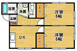 ソレイユ 4・5[5-102号室]の間取り