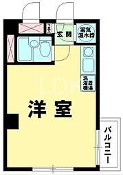 東京都目黒区下目黒1丁目の賃貸マンションの間取り