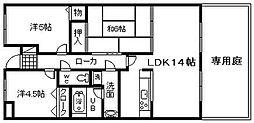 シャルマンフジ岸和田・上松[112号室]の間取り