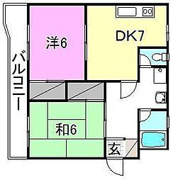 ことぶきホーム[407 号室号室]の間取り