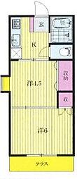 ジュネパレス松戸第93[1階]の間取り