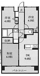藤和シティコープ坂戸[4階]の間取り