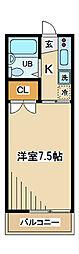 東京都府中市住吉町2丁目の賃貸アパートの間取り