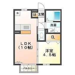 三重県四日市市青葉町の賃貸アパートの間取り