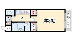 オ・ボワクレール[2階]の間取り