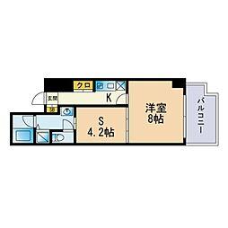 Jigyo HIKARI terrace 3階1SKの間取り