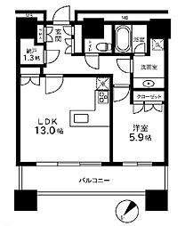 カテリーナ三田タワースイート イーストアーク[2107号室]の間取り