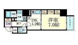 プレサンスNEO心斎橋[2階]の間取り