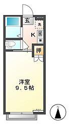 パークシティ若里[1階]の間取り