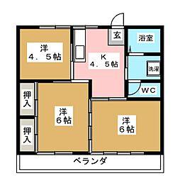 第二コーポ小幡[2階]の間取り