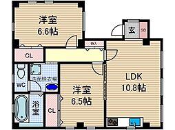 キタガワ商会ビル[2階]の間取り