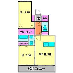 MIMOSA COMFORT[302号室]の間取り