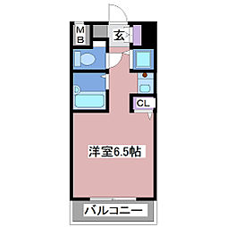 YKハイツ松の内[4階]の間取り