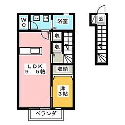 スターフォールC[2階]の間取り